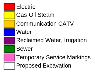 utilities color coded chart
